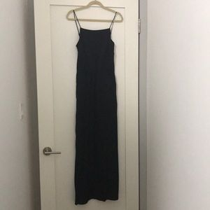Black silk maxi dress